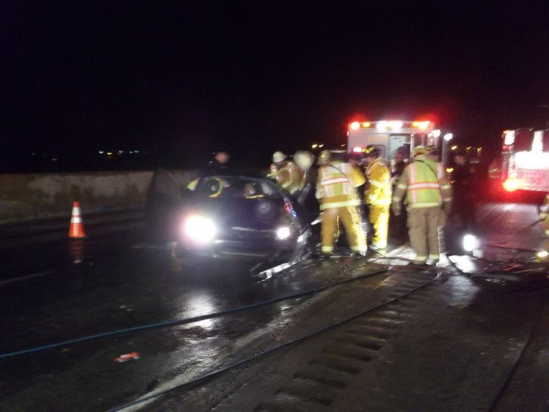Icy roads contribute to accident with entrapment