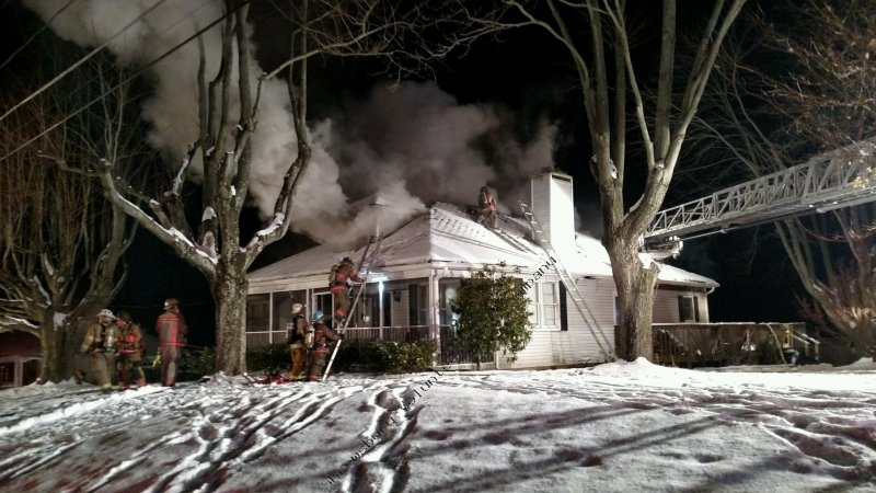 Rescue 61 Assists With Baltimore County House Fire