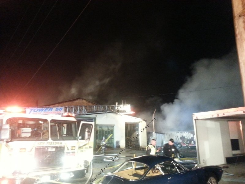 Engine 61-1 and Brush 61 assist on Glen Rock Building Fire