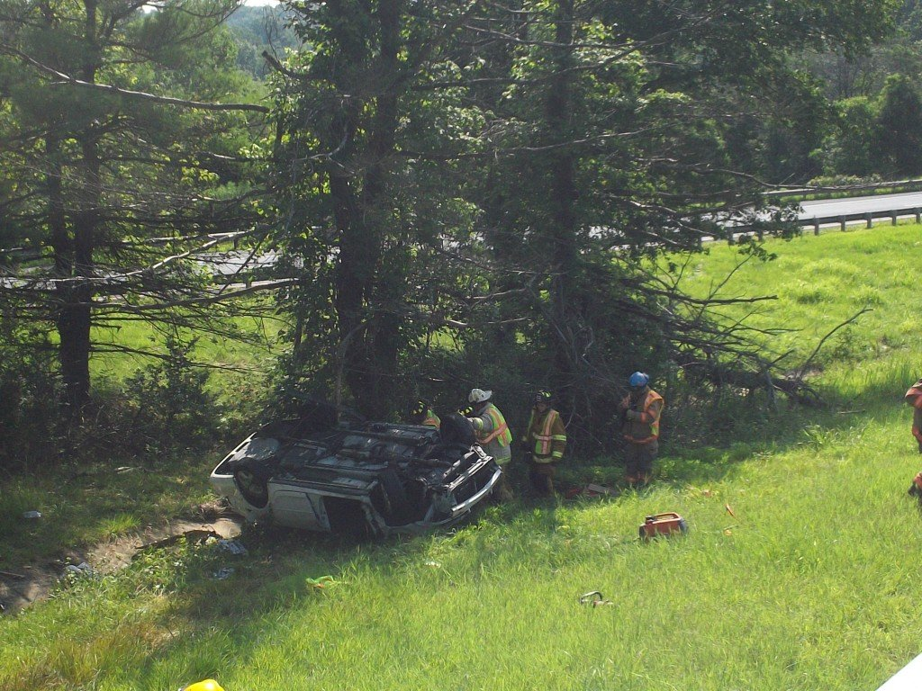 Vehicle Rollover with Entrapment in Maryland