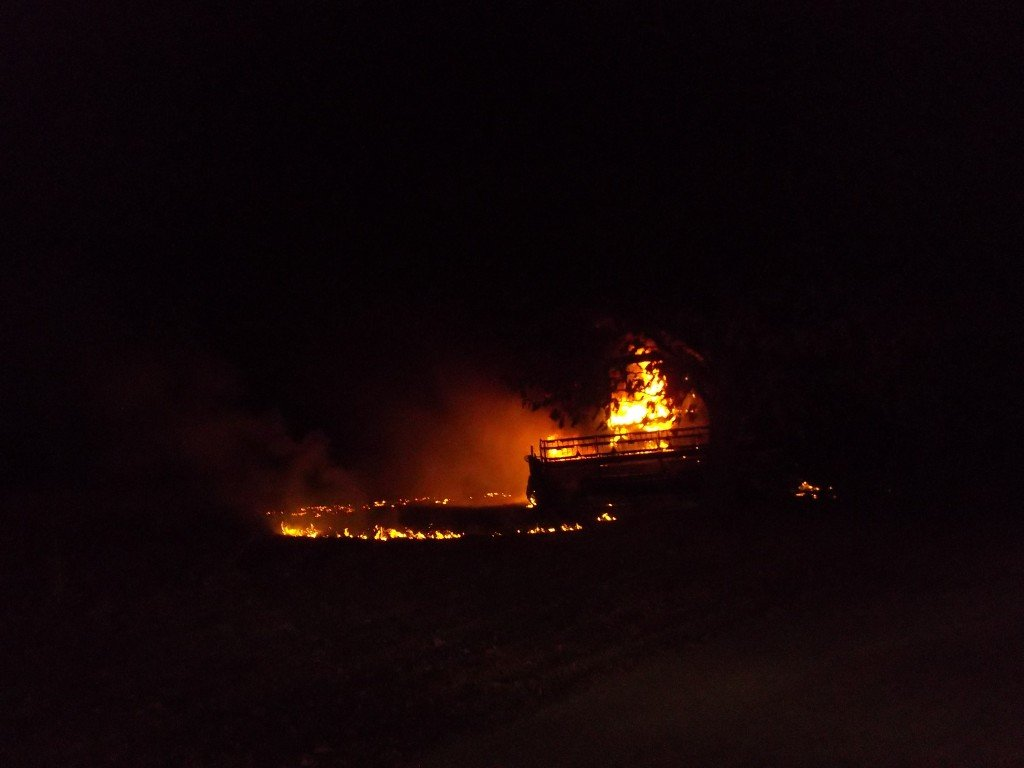 Engine 61 Responds To Combine Fire