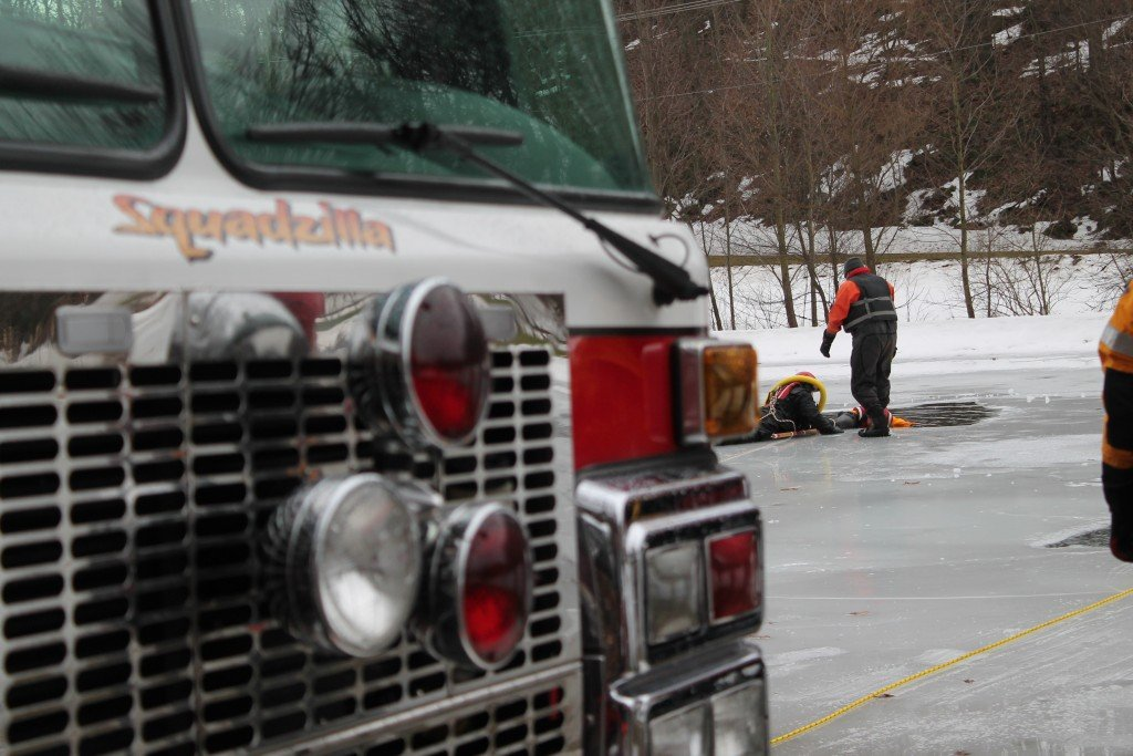 SURFACE ICE RESCUE CLASS IN SHREWSBURY