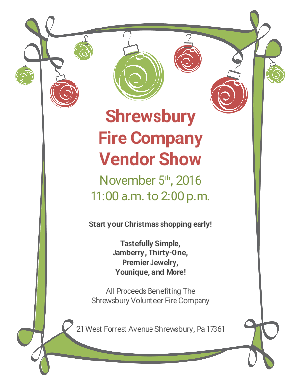 Shrewsbury Vendor Show