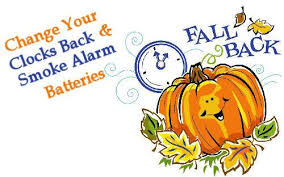 Turn back your clocks tonight and change your smoke detector/carbon monoxide batteries