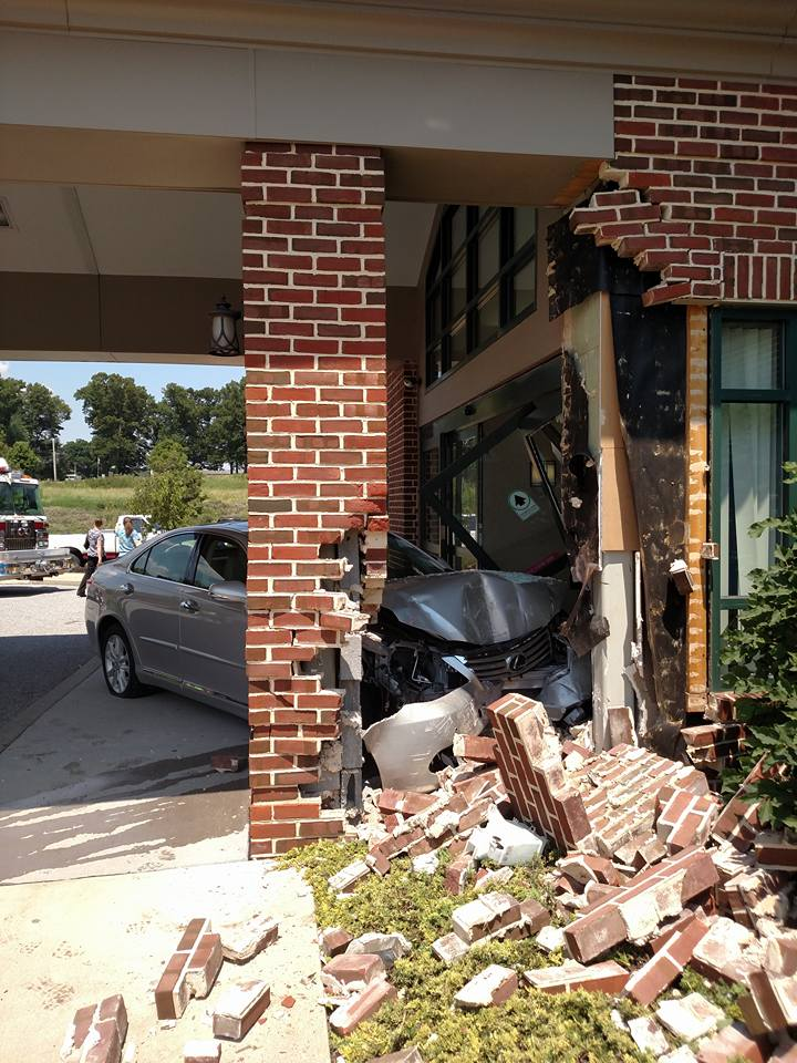 Vehicle into a builidng in Hopewell Township