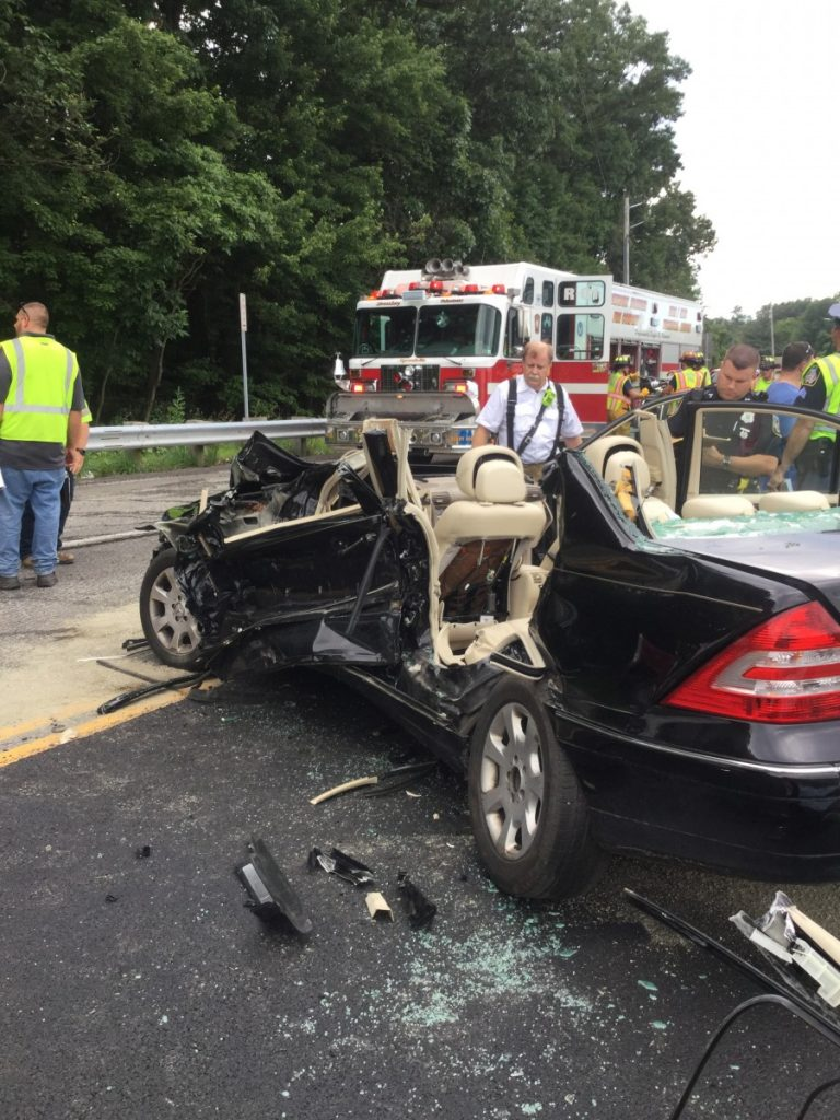 Accident with entrapment call in Baltimore County