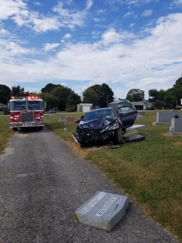 Two vehicle accident in Shrewsbury Borough