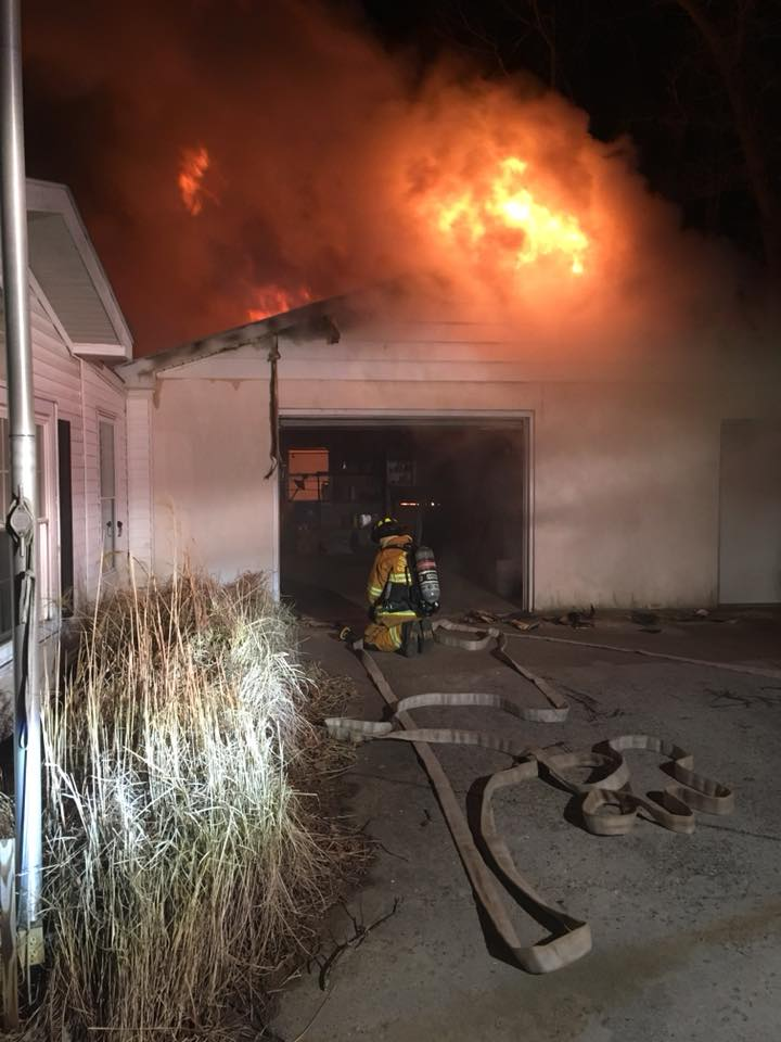 Working fire in Hopewell Township