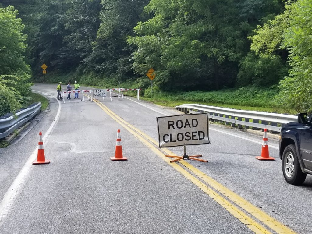 THE ROAD IS CLOSED!!!!