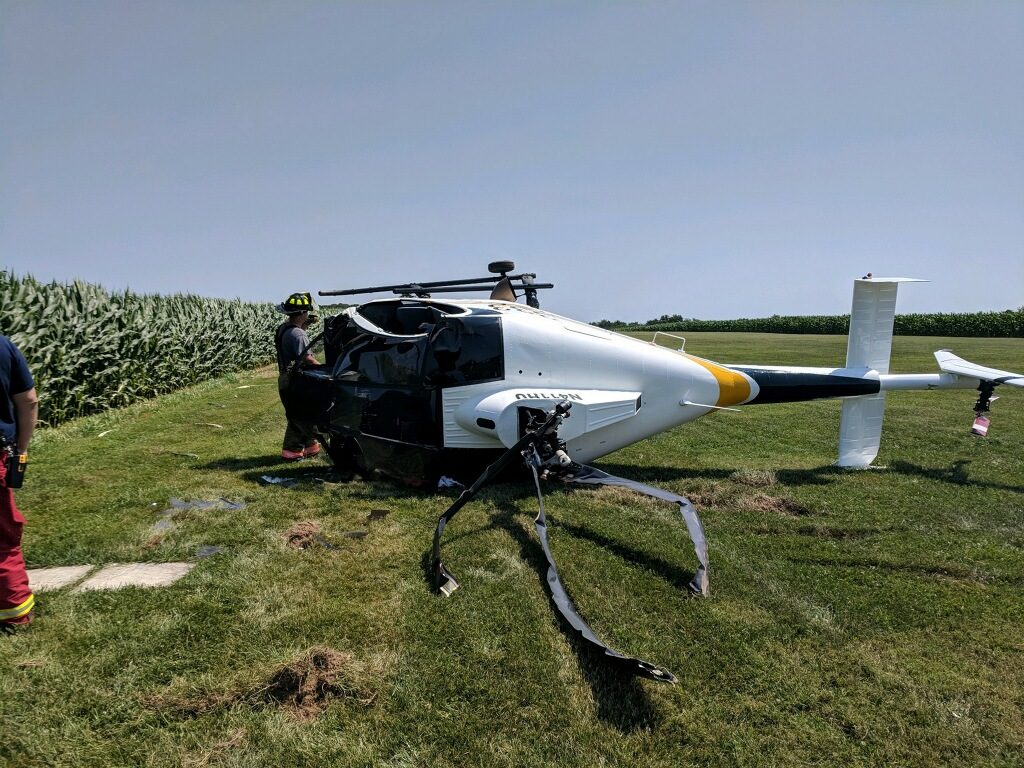 HELICOPTER ACCIDENT IN NORTH HOPEWELL TOWNSHIP