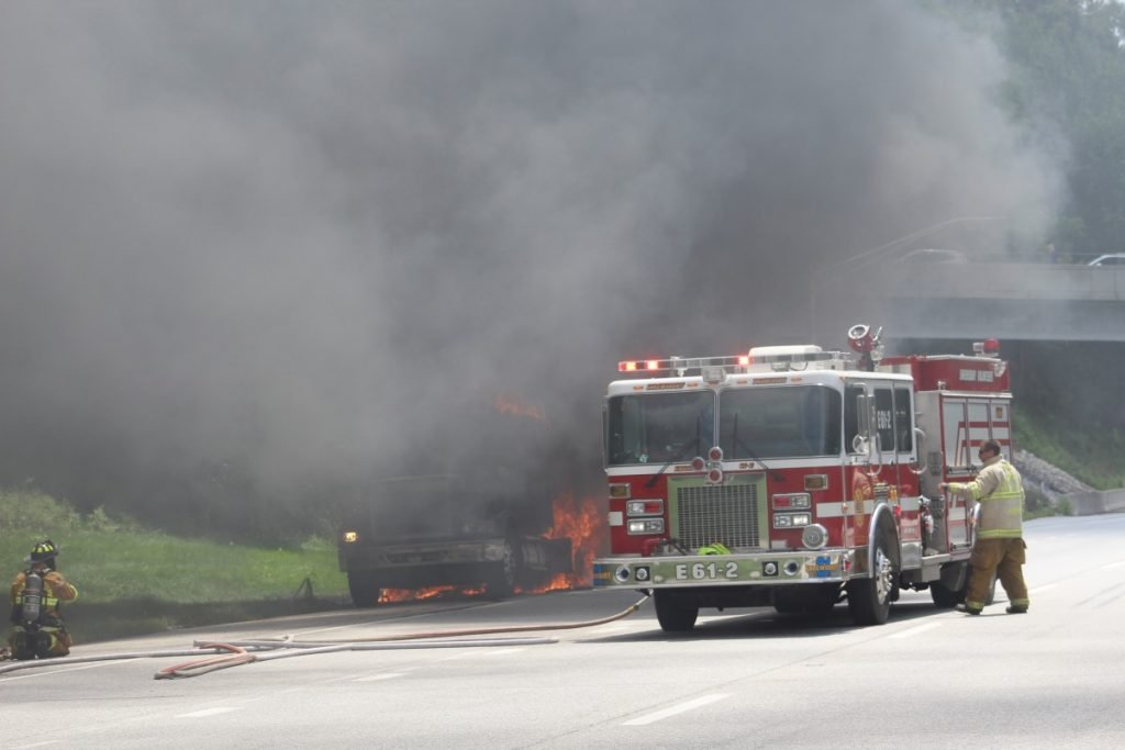 TRACTOR TRAILER FIRE ON INTERSTATE 83