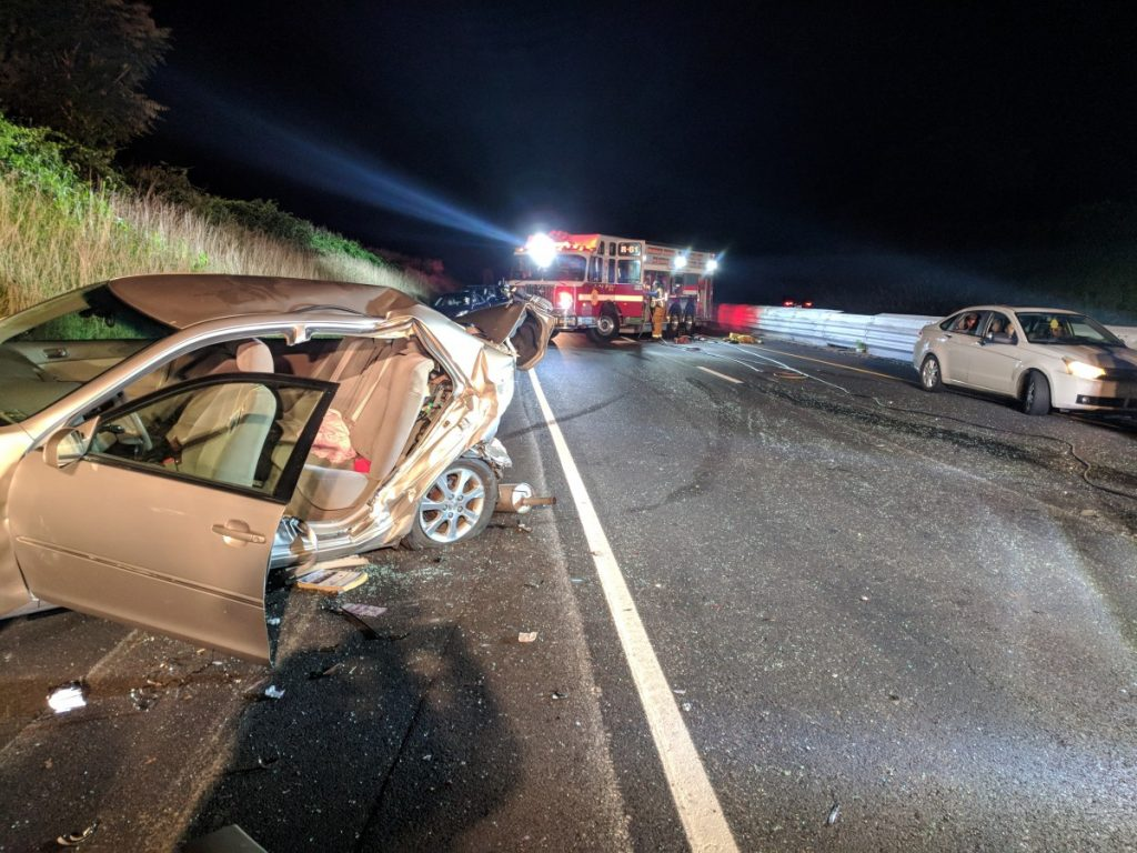 INTERSTATE 83 MULTI VEHICLE ACCIDENT WITH ENTRAPMENT IN SHREWSBURY TOWNSHIP
