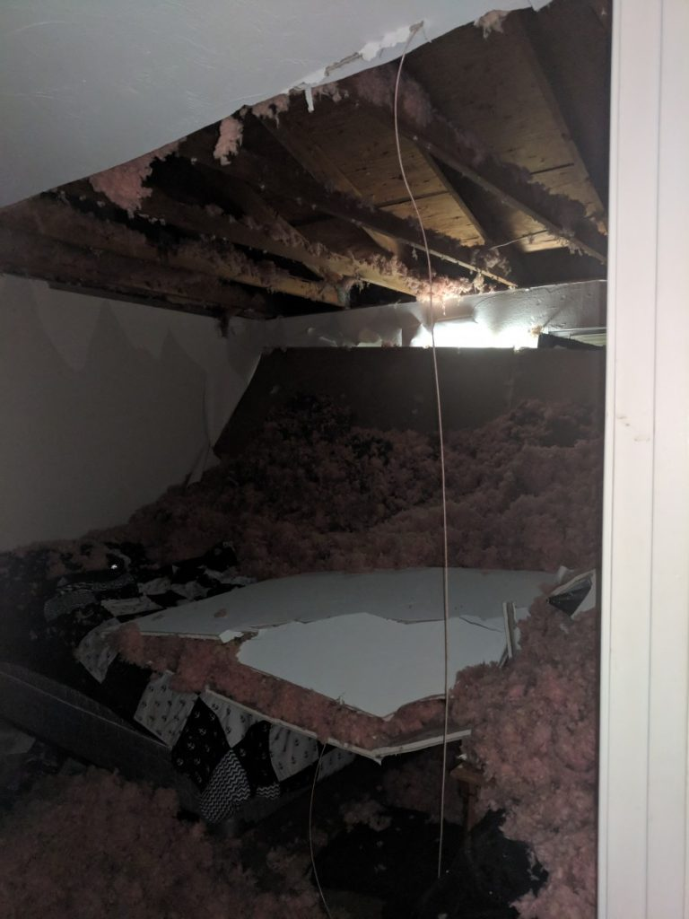Ceiling Collapse in Shrewsbury Borough