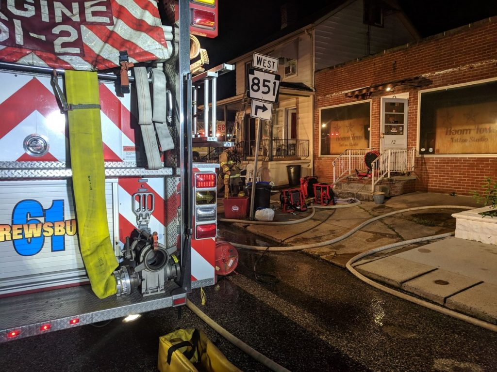 STRUCTURE FIRE IN NEW FREEDOM BOROUGH