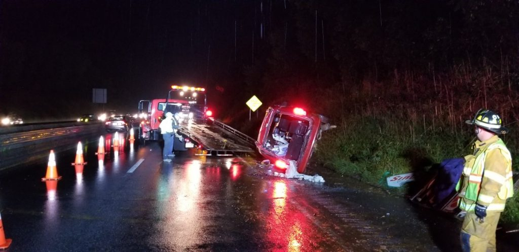 ACCIDENT WITH ENTRAPMENT ON INTERSTATE 83